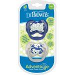 Dr. Brown's Advantage Night Σιλικόνης Blue Bear 0-6m 2τμχ