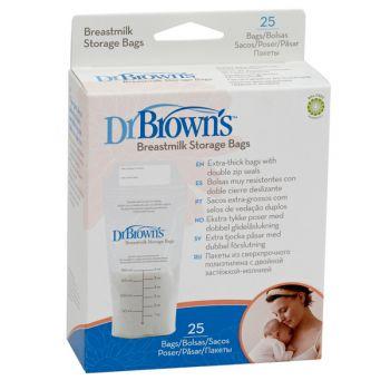 Dr Brown's σακουλάκια αποθήκευσης μητρικού γάλακτος